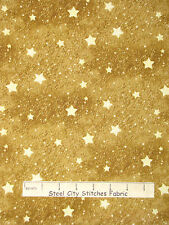 Christmas Fabric - Holiday Stars Gd Beige #25581 SPX Old World Christmas - YARD
