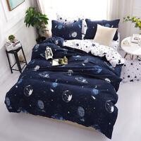 Universe Outer Space Duvet Cover Quilt Cover Planet Bedding Set Pillowcases 3Pcs