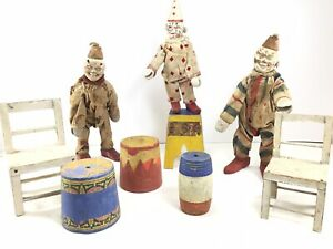 Schoenhut Humpty Dumpty Circus Clowns and Accessories