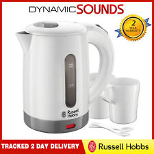 Russell Hobbs 23840 Compact Travel Kettle with Cups/Spoons, Plastic 1000W, White