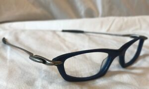 New Oakley WHY2 Barrel Eyeglasses Frames 130 Dark Blue 11-651