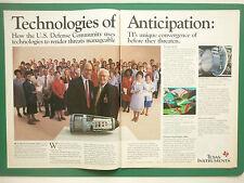 8/1987 PUB TEXAS INSTRUMENTS HARM HIGH SPEED ANTI RADAR MISSILE ORIGINAL ADVERT