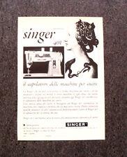 M165- Advertising Pubblicità -1960- SINGER 401 , AUTOMATICA MACCHINA DA CUCIRE
