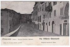 #CHIANCIANO: VIA VITTORIO  EMANUELE  - 1908