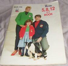 "VINTAGE  KNITTING BOOK ""PANDA 5,8,12 PLY BOOK 506 ' MIXED PATTERNS (#K95)"