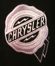 DAIMLER-CHRYSLER large vtg polyvinyl jacket auto-maker Dodge coat embroidery OG