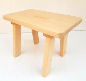 Wooden stool handmade stepping stool kids stool solid beech wood