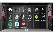 "JVC KW-V240BT 6.2"" Double-Din Bluetooth DVD/CD/USB Car Receiver AM/FM Radio"