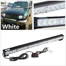 White 24 LED Emergency Car Truck Traffic Advisor Strobe Warning Light Light bar