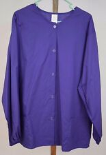 Scrub Top NWOT Nurse Vet Dental CNA Child Care Sz 2X Purple Solid Button Front