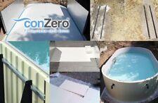 conZero Poolsystem für Ovalformbecken Pool ohne Beton Bodenplatte Stützmauer