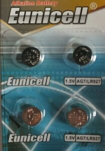 EUNICELL AG7/LR927 x 4 TOP QUALITY BATTERIES UK SAME DAY POST