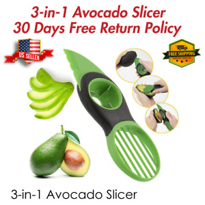 Avocado Slicer Fruit Specialty Cutter Knife 3 in 1 Kitchen Tool USA Seller 🔥🔥