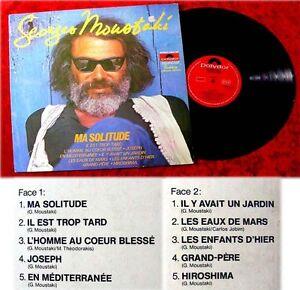 LP Georges Moustaki Ma Solitude