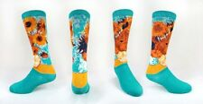 "Knee Highs - ""Vase of Sunflowers"" Design - Wearable Fine Art!  (Art By Van Gogh)"