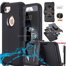 Shockproof Amor Heavy Duty Hard Case w/ Belt Clip Holster F iPhone Samsung