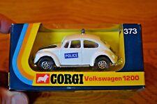 CORGI 373 VOLKSWAGEN 1200 POLICE CAR, NEAR  MINT LHD MODEL IN ORIGINAL BOX.