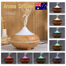 500ml Aroma Diffuser Ultrasonic Essential Oil Cool Mist Humidifier 8 LED Lights