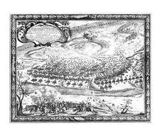 Antique map, Pugna prope pagum Golumbo