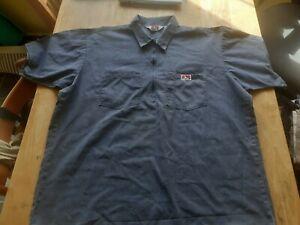 Vintage Ben Davis Quarter Zip Short Sleeved Work Shirt XL Made in USA