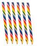 6 Jumbo Rainbow Pencils - Colouring Pinata Loot/Party Bag Fillers Kids