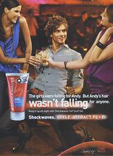 Wella Shockwaves Ultra Strong Tuff Stuff Gel 2007 Magazine Advert #3586