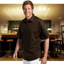 Men's Cotton Blend Regular Collar Loose Fit No Pattern Casual Shirts & Tops