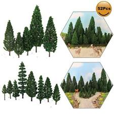 52pcs Model Pine Trees Green Plastic For Forest O HO TT N Scale Model Railway