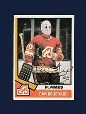 Dan Bouchard signed Atlanta Flames 1974-75 Topps hockey card