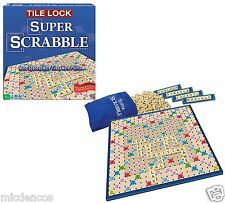 Games-Super Scrabble W/Tile Lock Gameboard,Can Be Rotated 4 Better Views &Angles