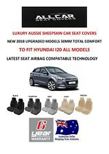 Sheepskin Car Seatcovers to fit Hyundai I20 Models, Seat Airbag Safe, 30mm TC.