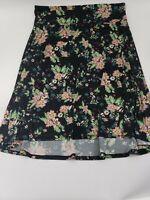 Womens Lularoe Knee Length Floral Skirt Size 3XL