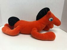 "2003 Aurora Gumby And Pokey Plush Pokey Horse Orange Stuffed Animal Beanie 15"""