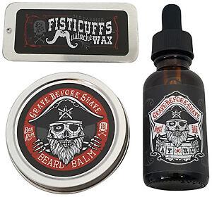 GBS Bay Rum Beard Oil Beard Balm and Mustache Wax Pack
