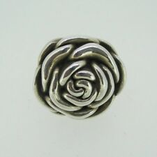 Vintage Sterling Silver Large Fashion Rose Ring Size 7
