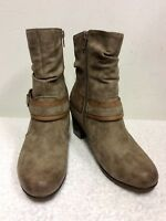 BRAND NEW REIKER LIGHT BROWN LEATHER WARM FLEECE LINED ANKLE BOOTS SIZE 5/38