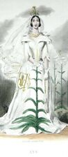 ANIMATED FLOWERS: The LILY (QUEBEC FRANCE) - Colour engraving 19th (Grandville)