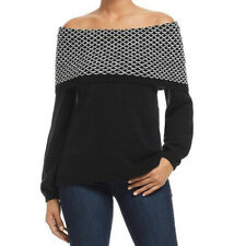 HEATHER B Womens Off The Shoulder Knit Sweater MEDIUM
