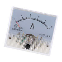 DC 0-5A Analog Amp Meter Ammeter Current Panel Ampere Meter 85C1 Class 2.5