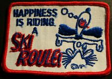 "VINTAGE SKIROULE SNOWMOBILE PATCH ABOUT 3"" X 4""  NEW"