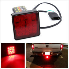 "2"" Trailer Hitch Receiver Cover 12 LED Brake Leds Light Towing & Hauling w/ Pin"