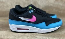 Nike Air Max 1 Jelly Swoosh Men's Shoes Black Blue Fury Miami Sneakers