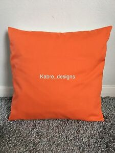 """1 NEW 10"""" PLAIN BRIGHT ORANGE COTTON CUSHION COVER OTHER COLOURS SIZES AVAILABLE"""