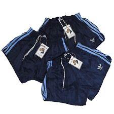 VINTAGE Adidas Shorts Gr D6 Made W Germany Sprinter Slip Blau Glanz Retro 80s