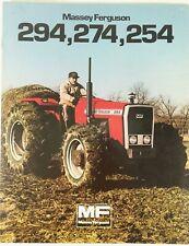 Massey Ferguson Vintage 1982 Farm Tractor Sales Advertising Brochure 294 274 254