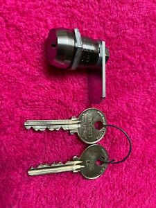 CAM LOCK # A15 ON IT = WITH 2 MEDECO ORIGINAL KEYS == NEW OLD STOCK==