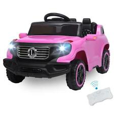 US 6V Safety Kids Ride on Toys Car Electric Battery Remote Control 3 Speed Pink