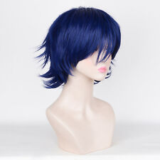Halloween Cosplay disney Party city Short Blue Pixie Cropped Hair WIGS Wig
