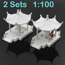 GY01100 2set DIY Pavilion Model Gloriette Chinese Construction Educational 1:100