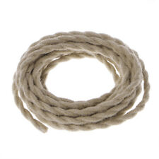 5M 2x0.75 Vintage Rope Electric Wire Twisted  Retro Hemp Braided Electric Cable